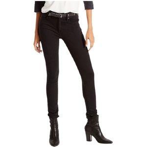 LEVI'S 721 Black High Rise Skinny Jeans W27/L30